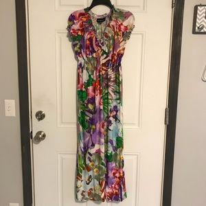Floral Maxi Dress (silky, soft, & stretchy)